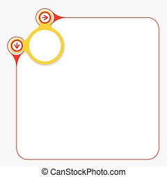 Red frame for your text and yellow circle
