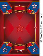 Red frame poster