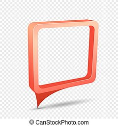red frame rectangular discount sticker
