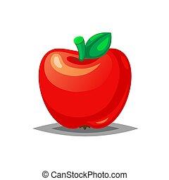 Red fresh apple icon