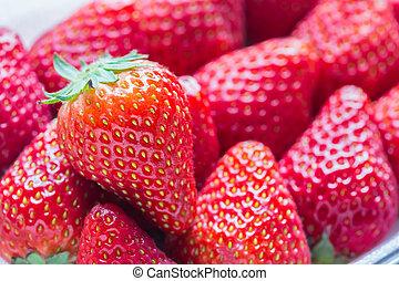 Red fresh strawberries.