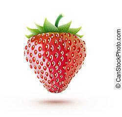 red fresh strawberry