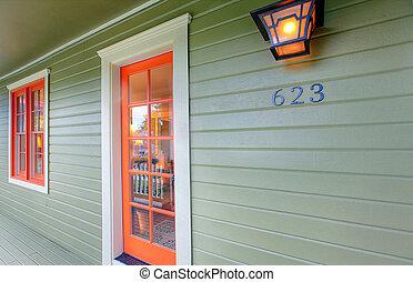 Red front door - New front door