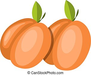 Red Fruits vector color illustration.