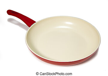 Red frying pan