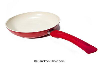 red frying pan