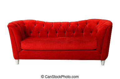 Red furniture isolated