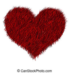 Red furred heart