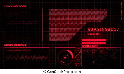 Red futuristic graphic interface