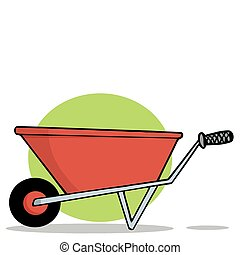 Red Gardening Wheelbarrow