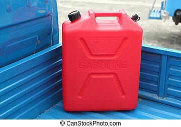 Gasoline refill tank