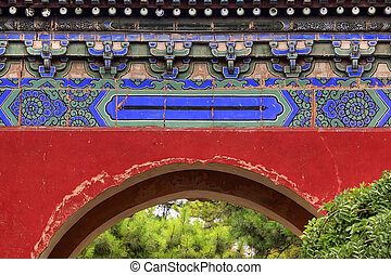 Red Gate Temple of Sun City Park Beijing, China