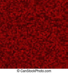 Red geometric seamless pattern. Funny abstract mosaic background. Design template. Vector illustration.