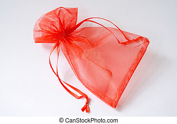 Red gift bag.