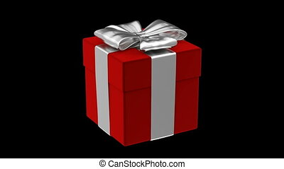 Red gift box 3D animation