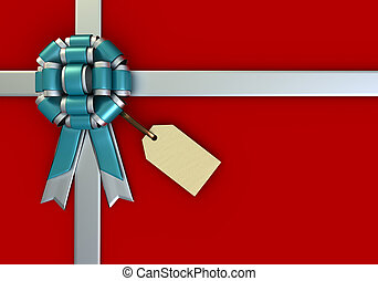 Red Gift Box and a Tag