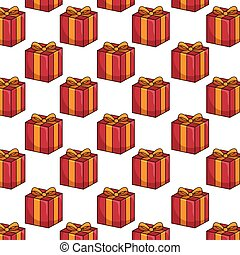red gift box background