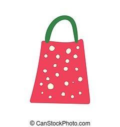 Red gift paper bag illustration