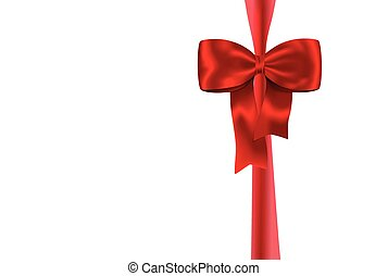 Red gift ribbon and bow 2