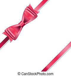 Red Gift Ribbon . Vector illustration