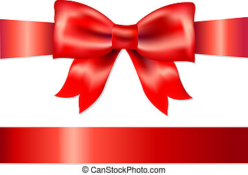 Red Gift Satin Bow