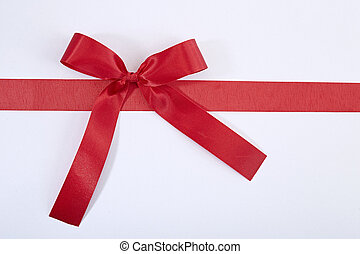 red gift satin ribbon bow