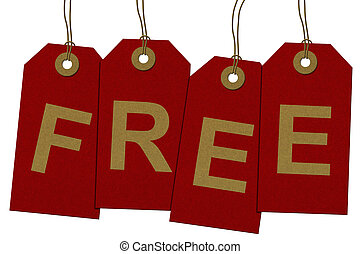 Free gift images and stock photos 20251 free gift photography and getting a free gift red gift tags with word free in gold negle Images
