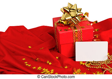 Red gift, visiting card