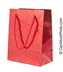 Red giftbag - Red gift bag isolated on white background