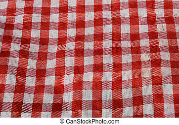 Red Gingham cloth