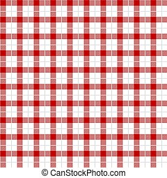 Red Gingham pattern.