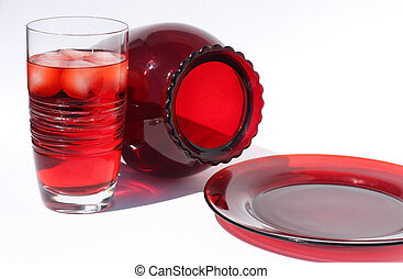 Red Glass and Cranberry Juice