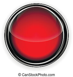 Red glass button