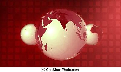Red glass globe in loop
