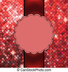 Red glitter sparkles snow flakes background. EPS 10 vector file included