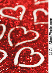 Valentines day card - Red glitter Valentines day card with ...