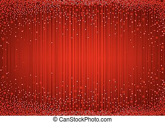 Red Glittering Curtain