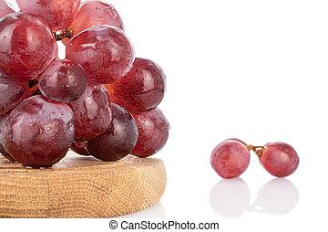 Red globe grape on white