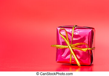 Red glossy gift