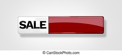 red glossy sale icon button blank isolated