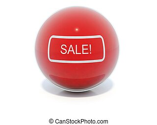 Red glossy sale icon