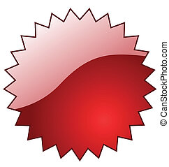Red glossy vector star with reflection. Perfect for adding...