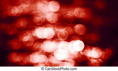 Red glowing circles abstract bokeh background