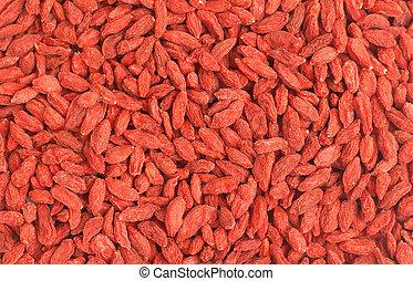 Red goji berries background