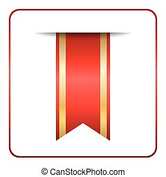 Red gold bookmark banner