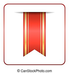 Red gold bookmark