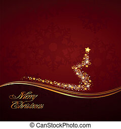 Red gold Christmas stardust - decoration in Christmas colors...