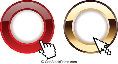Red Gold Glow Rings And Comuter Cursors