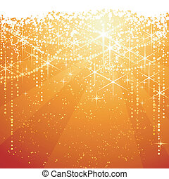 Red golden background with sparkling stars for festive...