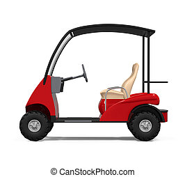 Red Golf Cart
